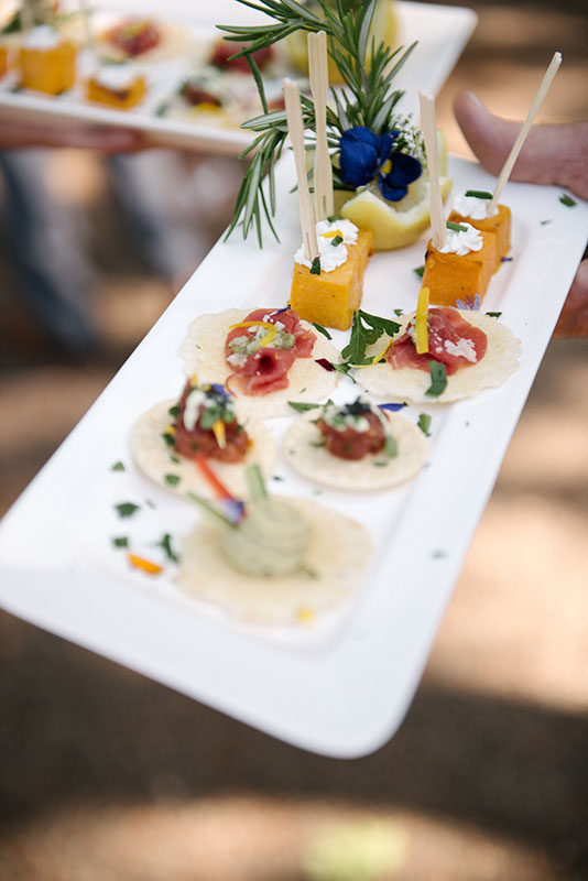 Photo by Sylvie Gil for a Napa wedding winery outdoor reception at Kunde Estate