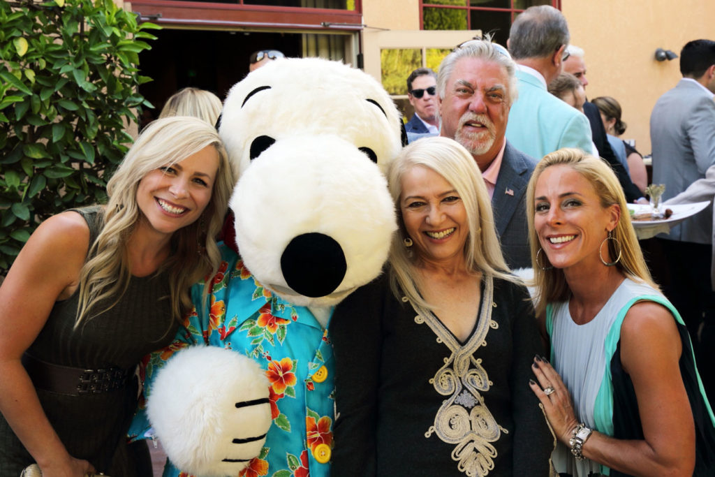 Snoopy mascot at a non-profit event, non-profit catering services by Park Avenue Catering, photo by Justin Warmack